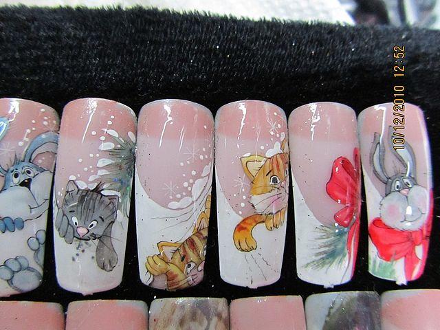 Рисунок на ногтях рисунок животных